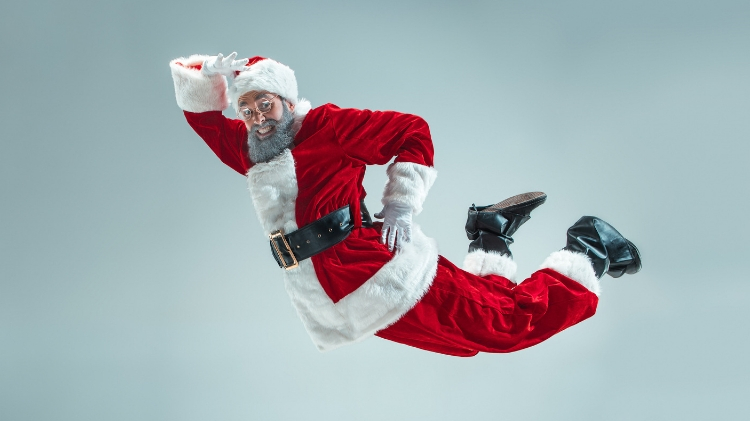Bouncing with Santa!