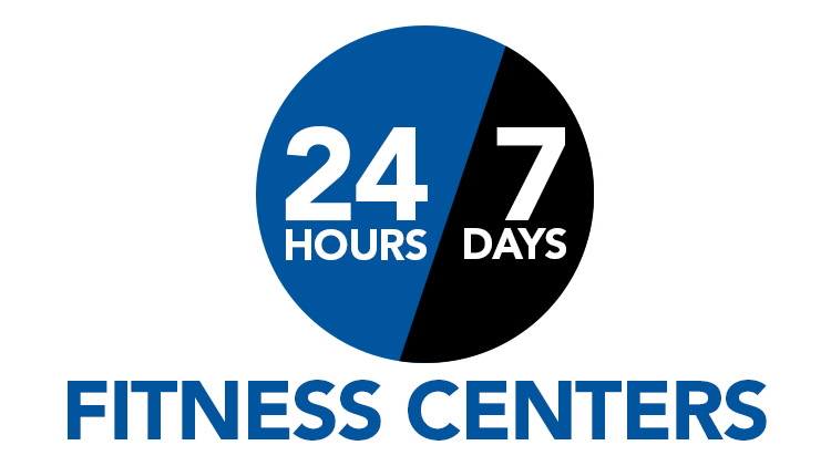 24/7 Fitness available at Jordan Fitness Center