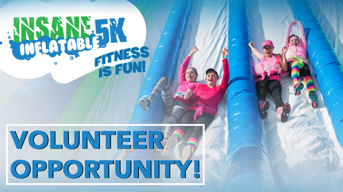 Insane Inflatable 5K Volunteer Opportunity