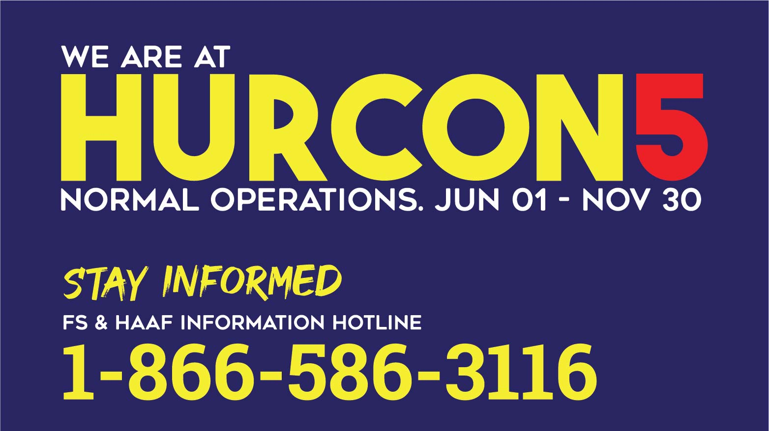 We are at HURCON 5